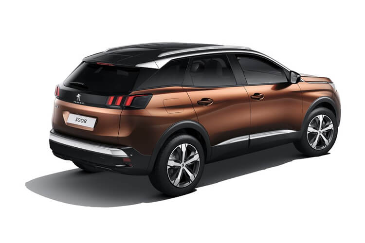 Peugeot 3008 SUV 1.2 PureTech 130PS GT 5Dr Manual [Start Stop] back view